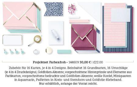 Projektset Farbenfroh Stampin' Blends