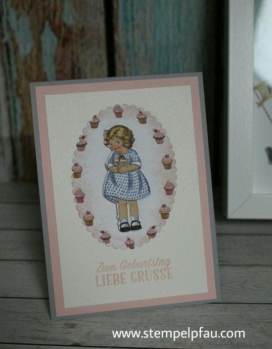 Geburtstagskarte mit dem Designerpapier Nostalgischer Geburtstag von Stampin' Up!