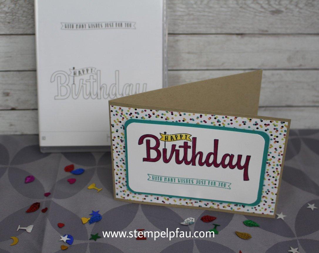 Stempelset Geburtstagswünsche für dich. Schnelle Geburtstagskarten mit Stampin' Up!