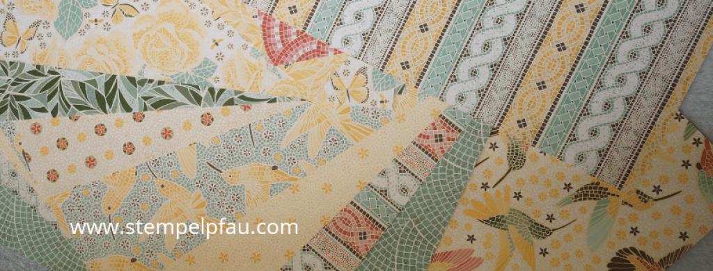 Märchenhaftes Mosaik, neues Designerpapier von Stampin' Up!