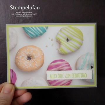 Designerpapier Perfekte Party von Stampin' Up!, Leider nicht mehr erhältlich, aber wunderschön.