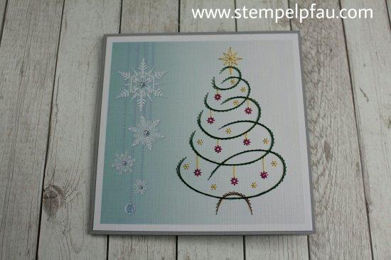 Fadengrafik Weihnachtskarte