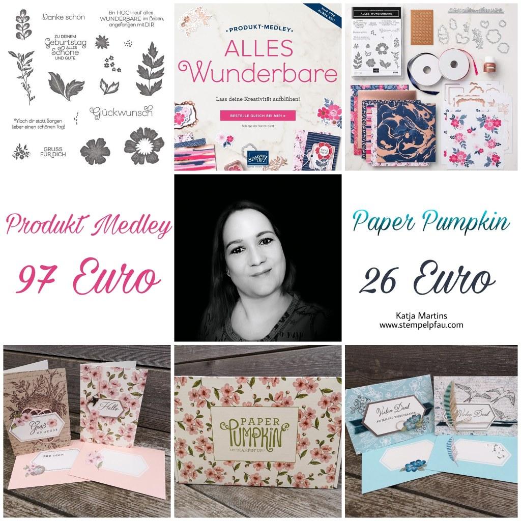 Produkt Medley Alles Wunderbare und Paper Pumpkin von Stampin' Up! Nur im Mai 2019 bestellbar.