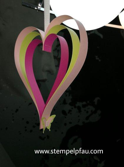 Herzdekoration, Stampin' Up!, Basteln mit Kindern