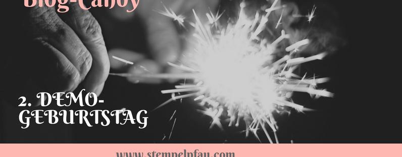 Blog-Candy zum 2. Demo-Geburtstag von Stempelpfau