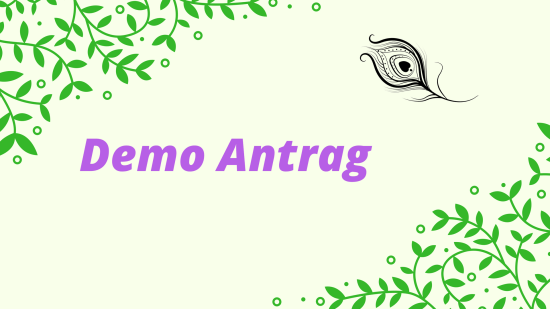 Demo Antrag als Stampin' Up! Beraterin