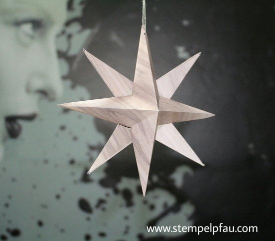3D Weihnachtssterne mit Stampin' Up! Designerpapier