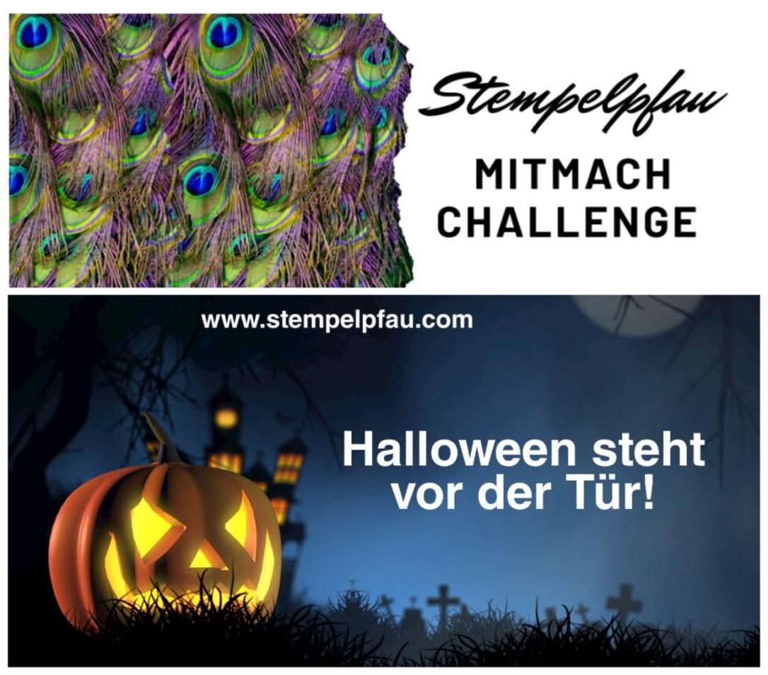 Mitmach Challenge Oktober Halloween vom Stempelpfau