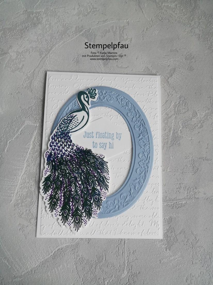 Weltkartenbasteltag von Stampin' Up!. Pfauenpracht