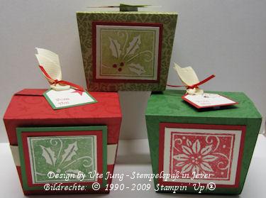 Weihnachtsboxen mit Frohes Fest kl