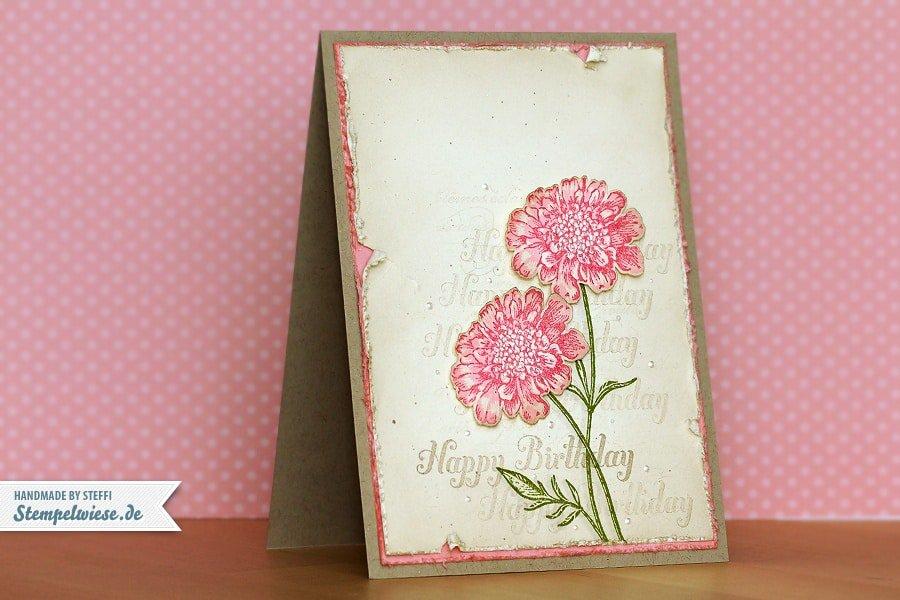 Geburtstagskarte - Field Flowers