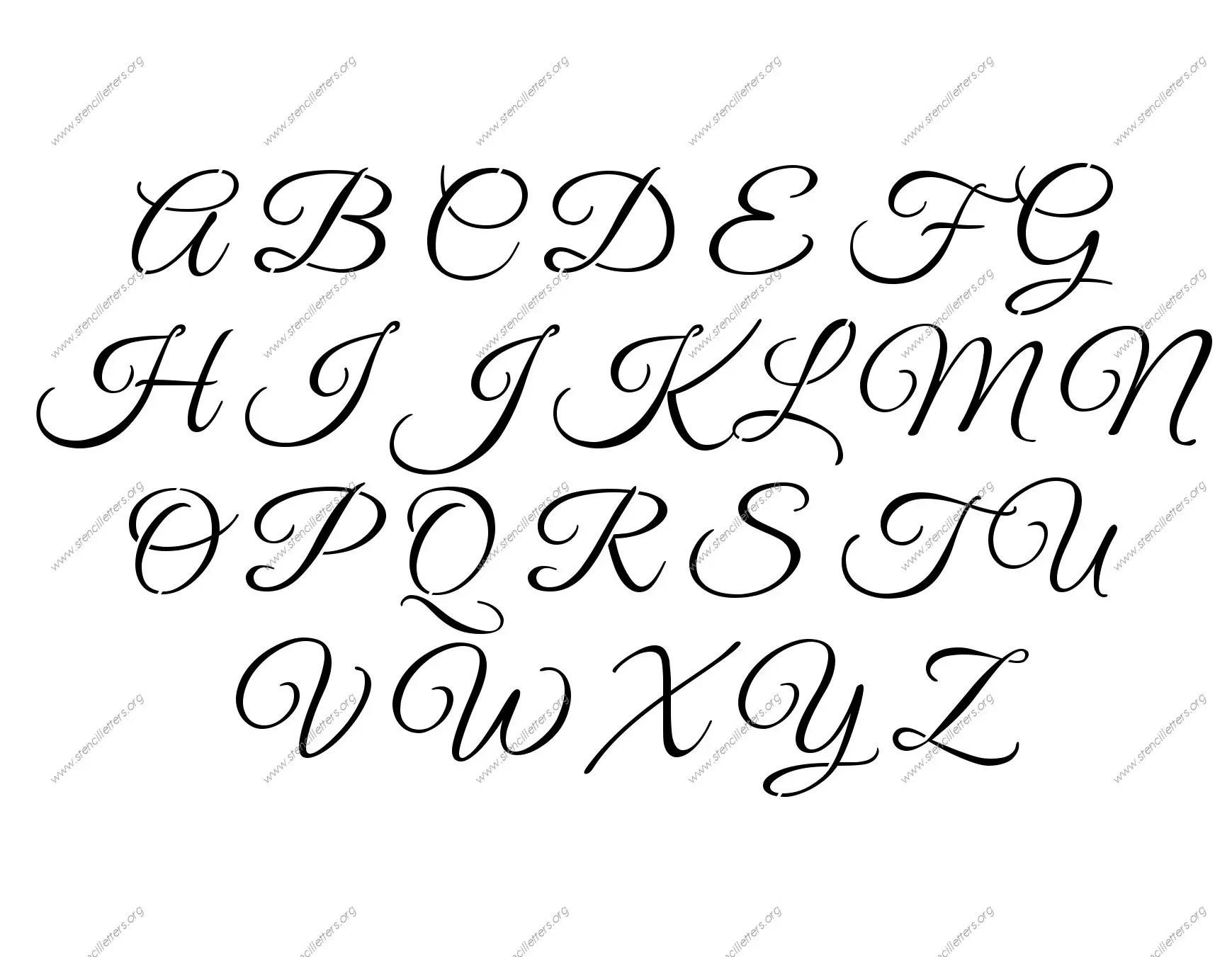 Elegant Calligraphy Number Stencils 0 To 9