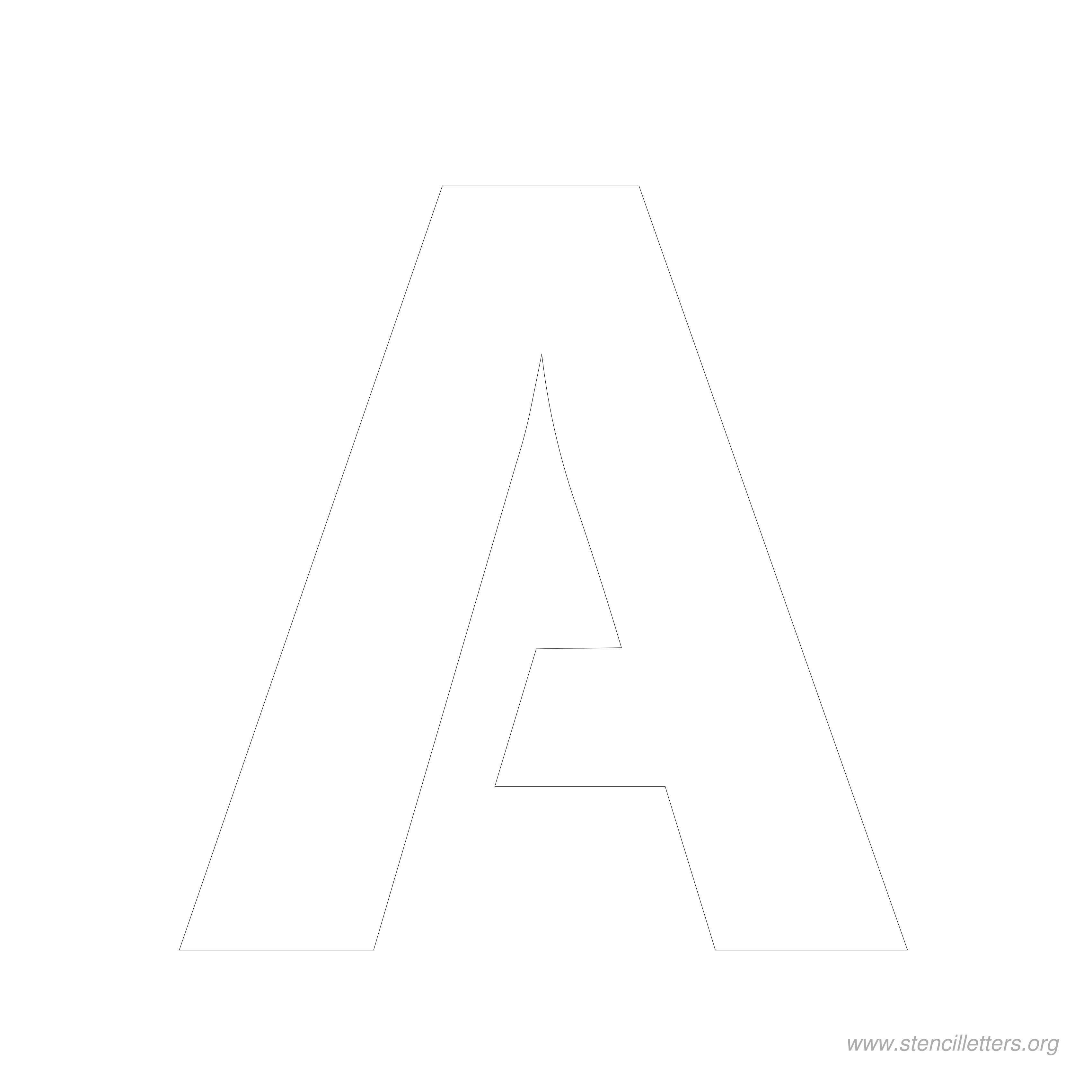 Top Letter A Printable