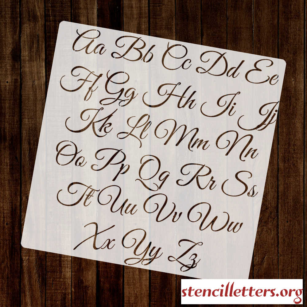 Dare to #keepwriting inspiring and motivating since mmxiv editor: STYLISH in CALLIGRAPHY Alphabet Stencil Set - Stencil ...