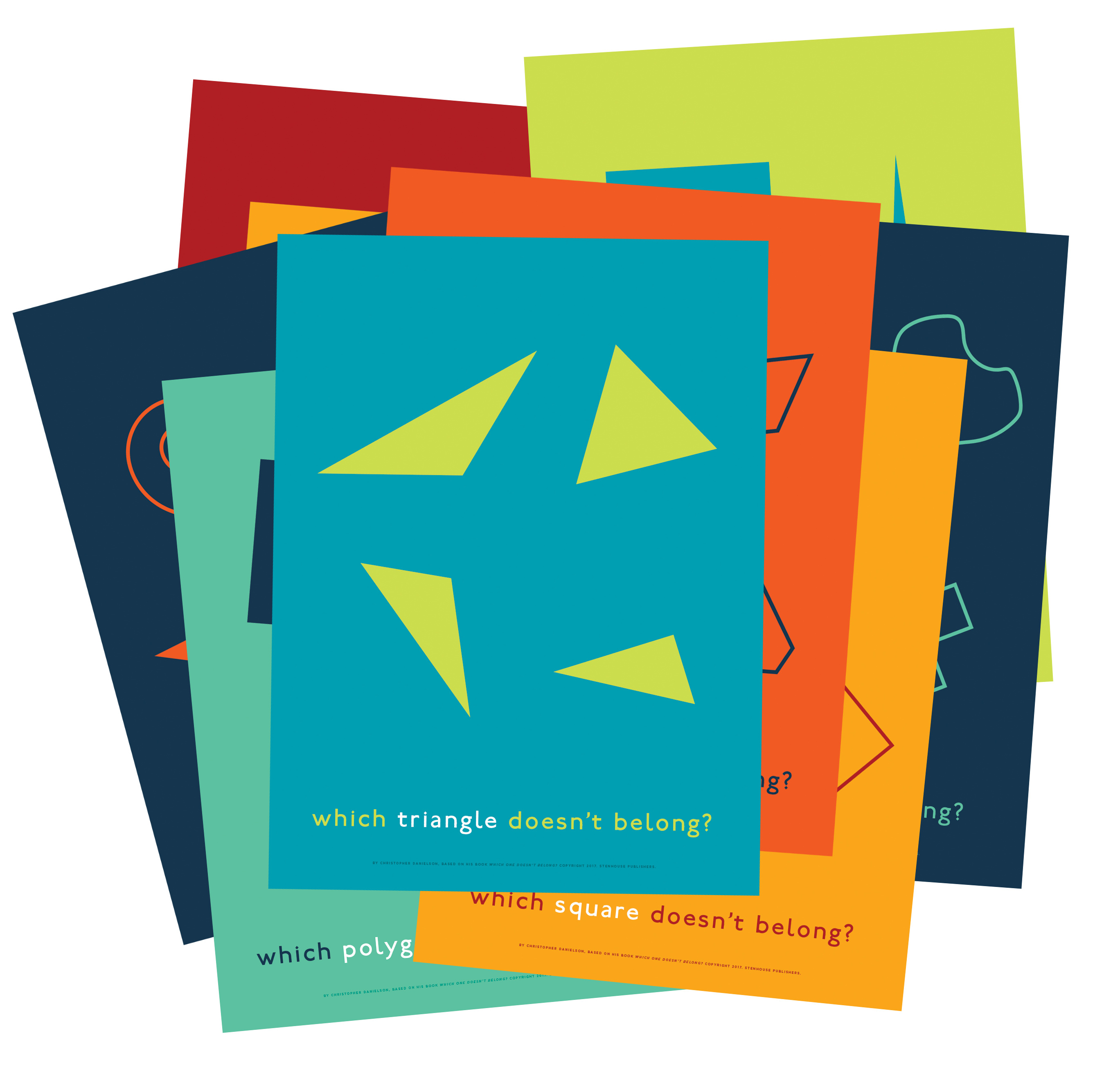 Which One Doesn T Belong Shapes Posters