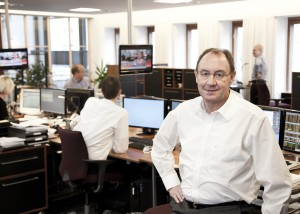 Nørresundby Banks direktør, Andreas Rasmussen, glæder sig over det gode 2013-resultat.