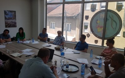 "The STEP Project Team as part of the working meeting ""Establishing a Destination Management Organization for the Polog Region and Mavrovo Reka Region"""