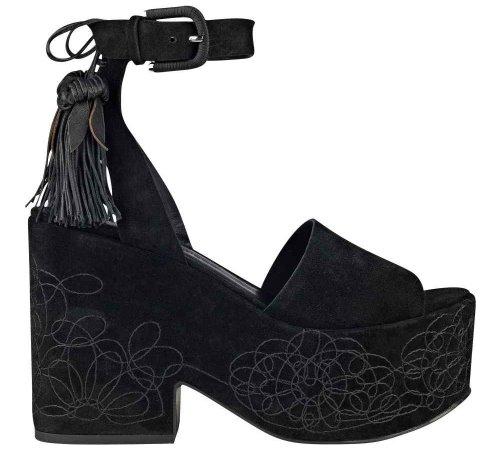 platform black sandal