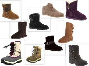 Bearpaw boots collage