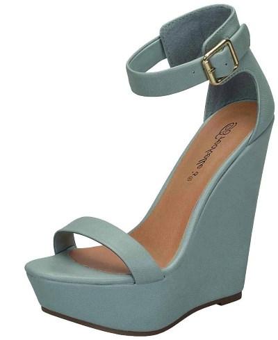 Breckelles Women's Open Toe Ankle Strap Platform Wedge Sandal Review