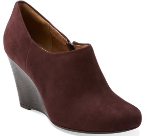 Clarks Purity Frost Womens Wedge Ankle Booties