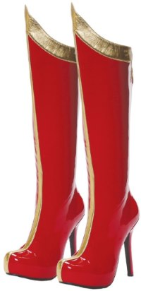 red and gold boots