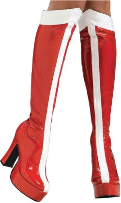 red and white wonder woman boots