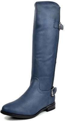 DREAM PAIRS Women's Casual Elastic Stretch Calf Riding Knee High Side Zipper Boots Review
