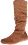 Enimay Women's Winter Fashion High Mid Calf Slouchy Flat Casual Dress Boot Thumb