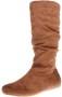 Enimay Women's Winter Fashion High Mid Calf Slouchy Flat Casual Dress Boot Thumb
