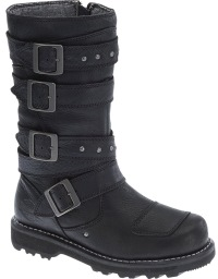 Harley-Davidson Women's Delana 10-Inch Black Performance Motorcycle Boot