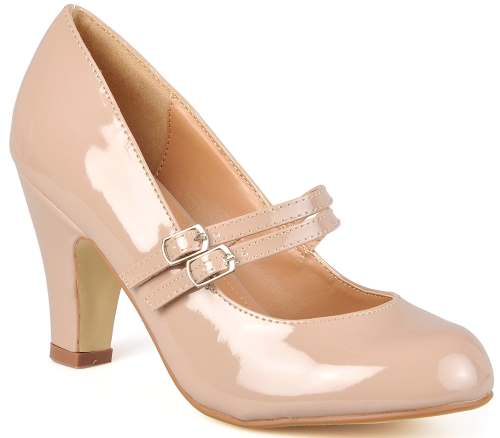 Journee Collection Womens Mary Jane Faux Leather Pumps