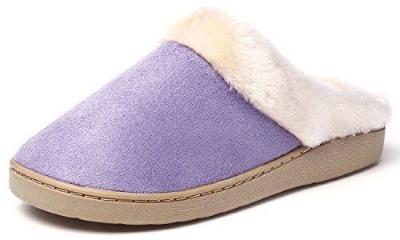 KushyShoo Women's Slip-on Fluffy Winter Clog Slipper Review