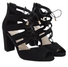 Zaful's black suede sandals