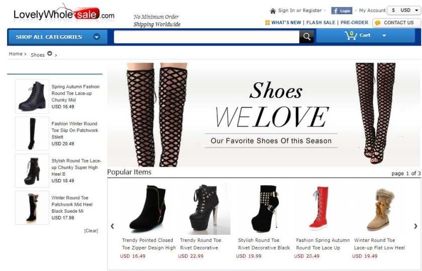 Lovely Wholesale Women's Shoes: Sandals, Pumps, Boots ...