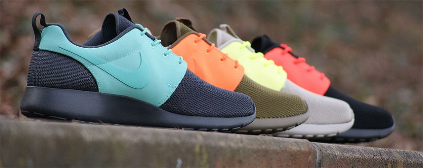 Nike sneakers different colors