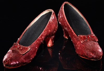 red heeled shoes with bow
