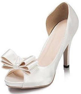 Peep Toe Stiletto Heel with bow