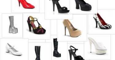 Upscalestripper shoes collage
