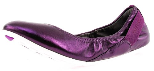 Cole Haan Women's Zerogrand Stage Door Elderberry/White Ballet Flat