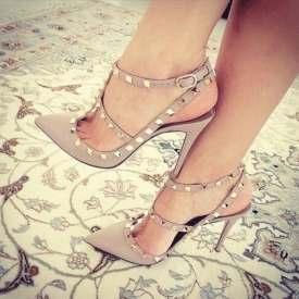 Slingback T Strap Stiletto Heel Pumps