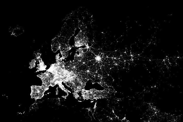 2013.02.03 - Европа в чекинах Foursquare
