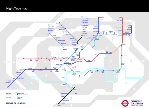 Лондское метро будет работать круглосуточно