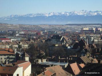 Turnul Sfatului Sibiu-panorama oras