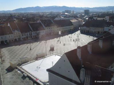 Turnul Sfatului Sibiu-piata mare vedere turn