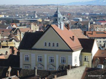 Turnul Sfatului Sibiu-vedere din turn sibiu
