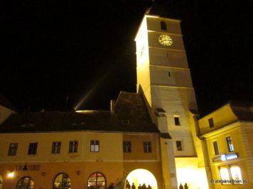 Turnul Sfatului Sibiu-vedere noaptea 2