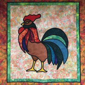 Stained Glass Cockerel with Liz Musselwhite