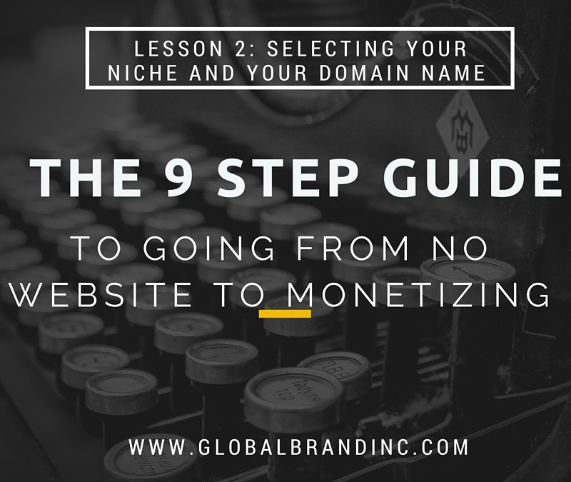Lesson 2:Picking a Niche and Domain Name