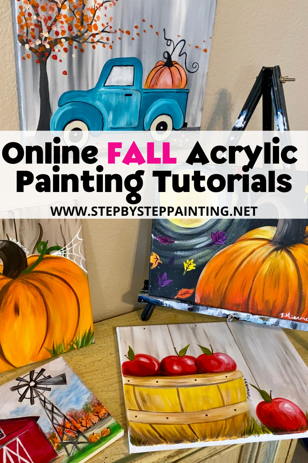 Fall Canvas Paintings Easy Canvas Painting For Beginners Step By Step